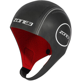 Zone3 Heat-Tech Neoprene Swim Cap S, black/silver/red